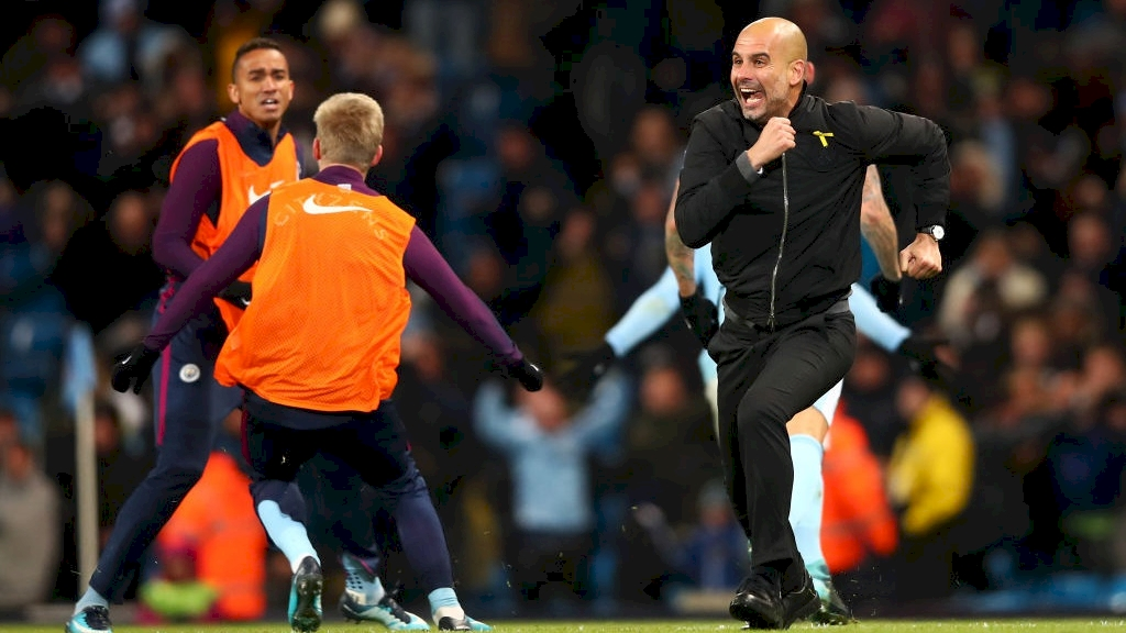 Pep-guardiola-celebrating-southampton