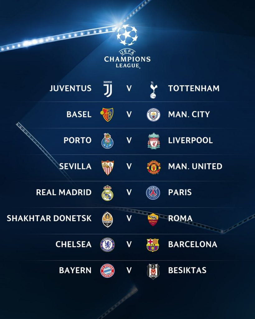 Results-Ucl-draw-round-16