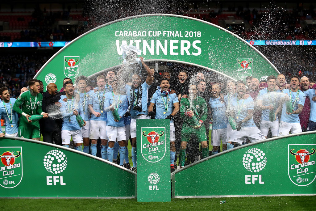Chelsea Vs Man City: Manchester City Carabao Cup 2017/18 Champions