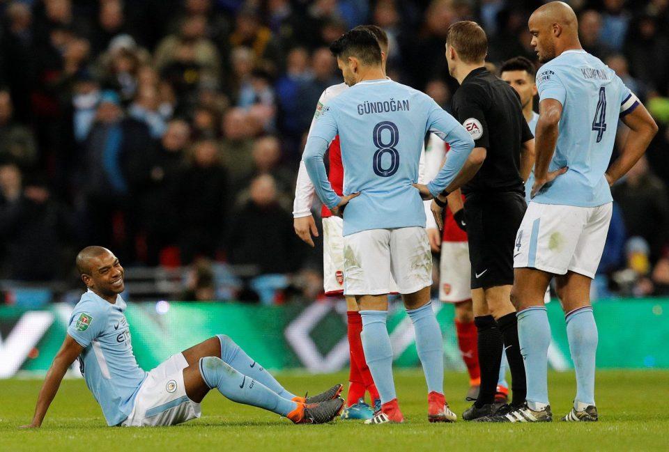 Image result for fernandinho injury 2018