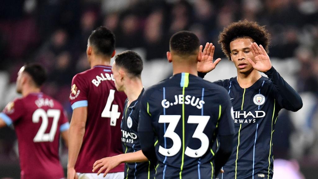 West-Ham-United-v-Manchester-City-Premier-League-sane-gabriel-jesus